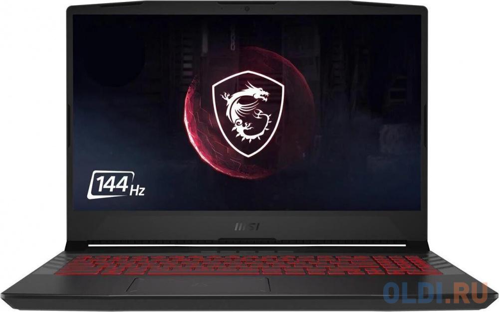 "Ноутбук MSI GL66 11UEK-211XRU TigerLake i5-11400H/8GB/512GB SSD/noODD/15.6"" FHD,144Hz IPS/RTX3060, GDDR6 6GB/WiFi+BT/Dos/Titanium Gray"
