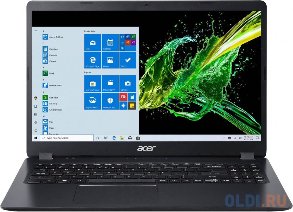 Ноутбук Acer Aspire 3 A315-56-50Z5 Core i5 1035G1/8Gb/SSD256Gb/Intel UHD Graphics/15.6/FHD (1920x1080)/Eshell/black/WiFi/BT/Cam ноутбук acer aspire 3 a317 52 599q intel core i5 1035g1 1000mhz 17 3 1920x1080 8gb 256gb ssd intel uhd graphics без ос nx hzwer 007 черный
