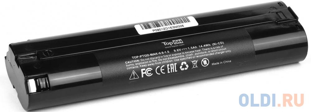 Цилиндрический аккумулятор TopON TOP-PTGD-MAK-9.6-1.5 для Makita 9.6V 1.5Ah (Ni-Cd) аналог аккумуляторов 191681-2 192533-0 632007-4 аккумулятор topon top ptgd bos 18 a ni mh 14 4 в 3 а·ч