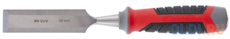 Долото-стамеска MATRIX 24763 28мм 60 crv трехкомпонентная обрезиненная рукоятка