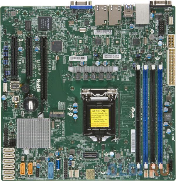 Материнская плата Supermicro MBD-X11SSH-F-B Socket 1151 C236 4xDDR4 1xPCI-E 4x 2xPCI-E 8x 8 mATX
