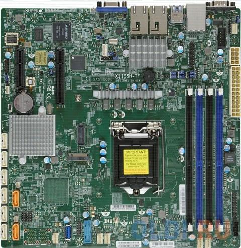 Материнская плата Supermicro MBD-X11SSH-TF-O Socket 1151 C236 4xDDR4 1xPCI-E 4x 1xPCI-E 8x 8 mATX