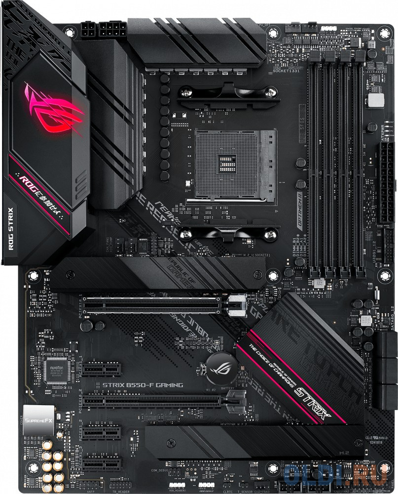 Материнская плата ASUS ROG STRIX B550-F GAMING Socket AM4 AMD B550 4xDDR4 2xPCI-E 16x 3xPCI-E 1x 6 ATX Retail материнская плата asus rog strix b550 e gaming socket am4 amd b550 4xddr4 2xpci e 16x 2xpci e 1x 6 atx retail