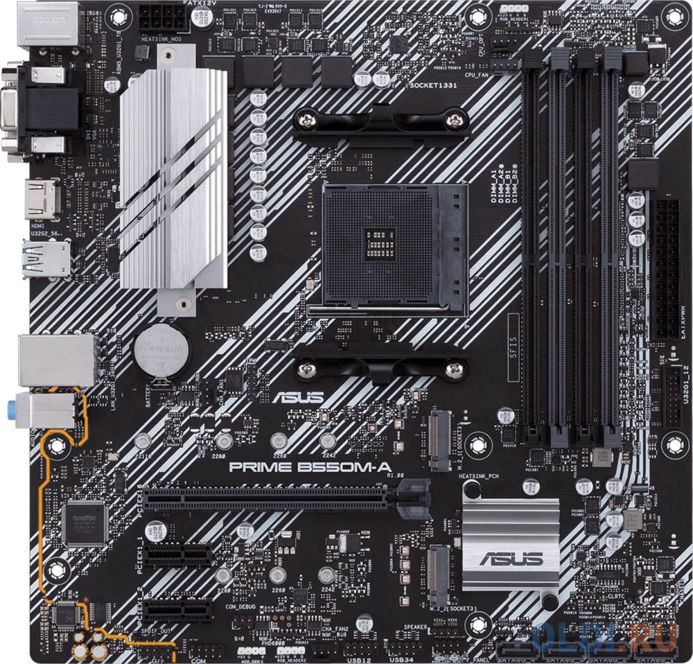 Материнская плата ASUS PRIME B550M-A Socket AM4 AMD B550 4xDDR4 1xPCI-E 16x 2xPCI-E 1x 4 mATX Retail фото