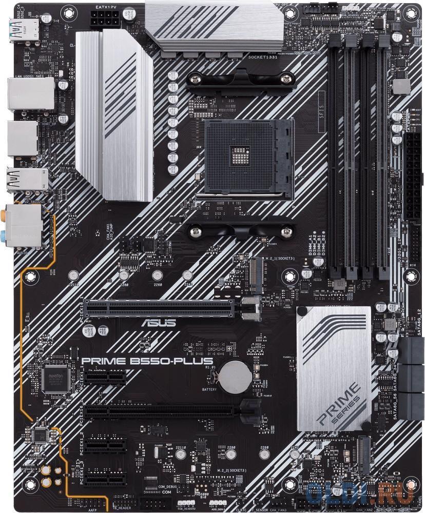 Материнская плата ASUS PRIME B550-PLUS Socket AM4 AMD B550 4xDDR4 2xPCI-E 16x 3xPCI-E 1x 6 ATX Retail