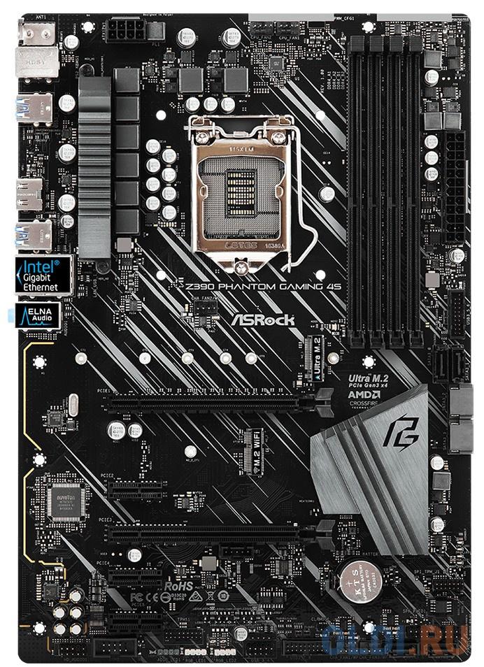 Материнская плата ASRock Z390 PHANTOM GAMING 4S Socket 1151 v2 Z390 4xDDR4 2xPCI-E 16x 3xPCI-E 1x 6 ATX Retail фото