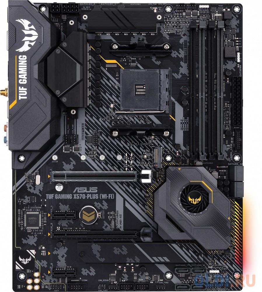 Материнская плата ASUS TUF GAMING X570-PLUS (WI-FI) Socket AM4 AMD X570 4xDDR4 2xPCI-E 16x 2xPCI-E 1x 8 ATX Retail материнская плата asus tuf gaming x570 plus wi fi 90mb1170 m0eay0
