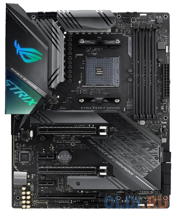 Материнская плата ASUS ROG STRIX X570-F GAMING Socket AM4 AMD X570 4xDDR4 3xPCI-E 16x 2xPCI-E 1x 8 ATX Retail материнская плата asus rog strix b550 e gaming socket am4 amd b550 4xddr4 2xpci e 16x 2xpci e 1x 6 atx retail