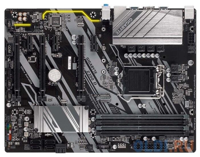 Материнская плата GigaByte Z390 D Socket 1151 v2 Z390 4xDDR4 3xPCI-E 16x 3xPCI-E 1x 6 ATX Retail.