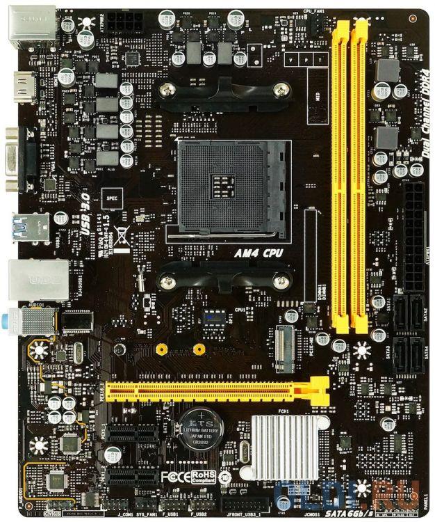 Фото - Материнская плата BIOSTAR B450MH Socket AM4 AMD B450 2xDDR4 1xPCI-E 16x 2xPCI-E 1x 4 mATX Retail материнская плата asus prime h410m a socket 1200 h410 2xddr4 1xpci e 16x 2xpci e 1x 4 matx retail