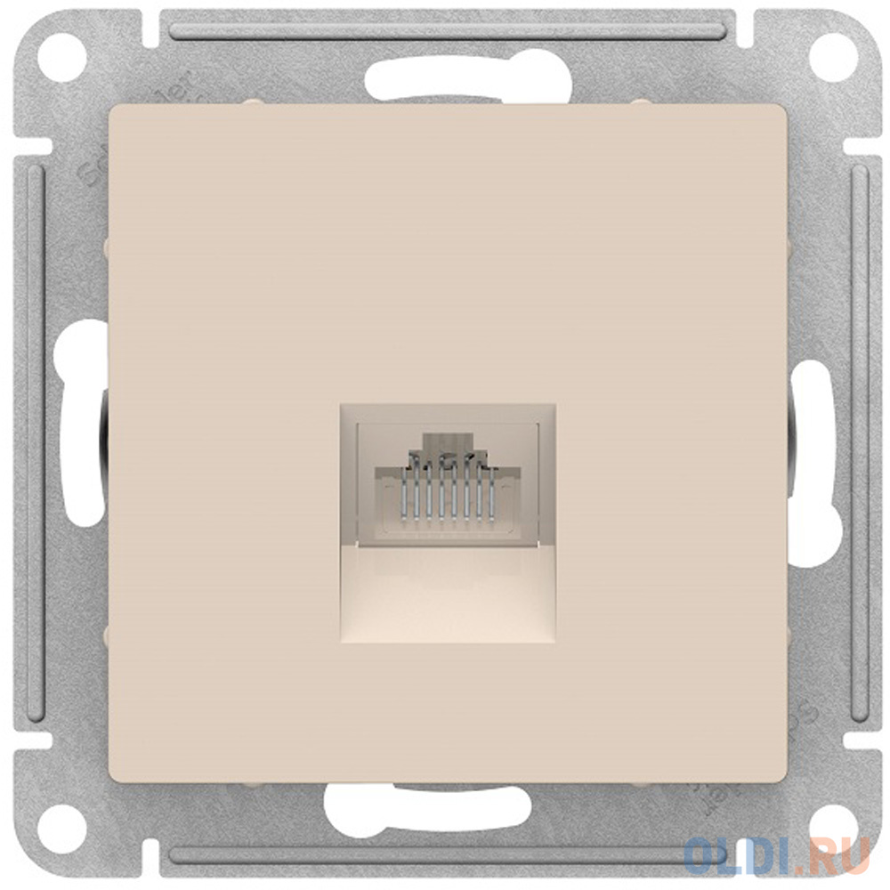 Механизм розетки SCHNEIDER ELECTRIC ATN000283  компьютерной atlas design rj45 беж.