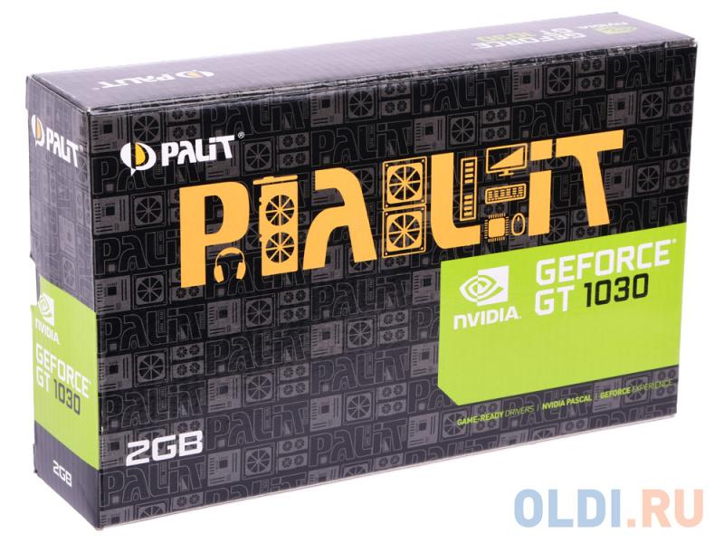 Видеокарта 2048Mb Palit GeForce GT1030 PCI-E DDR5 64bit DVI HDMI HDCP PA-GT1030 2GD5 NE5103000646-1080F