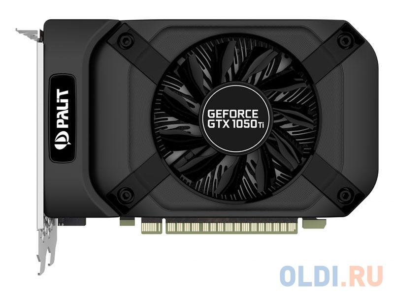 Видеокарта 4096Mb Palit GeForce GTX1050TI StormX 4G PCI-E 128bit GDDR5 DVI HDMI DP HDCP NE5105T018G1