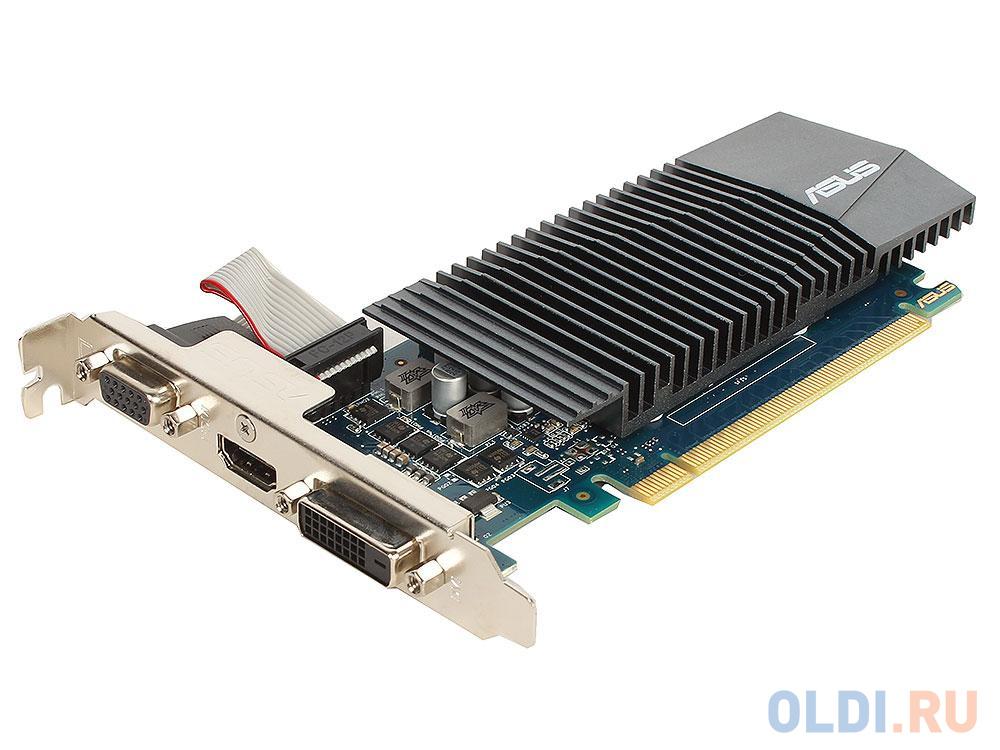 Видеокарта 1Gb PCI-E ASUS GT710-SL-1GD5-BRK GFGT710, GDDR5, 32 bit, VGA, DVI, HDMI, Retail