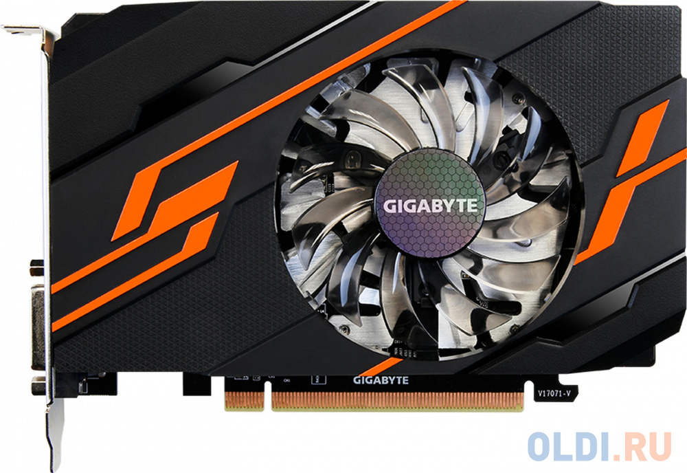 Видеокарта 2Gb PCI-E GIGABYTE GV-N1030OC-2GI GT1030, GDDR5, 64 bit, HDCP, DVI, HDMI, Retail