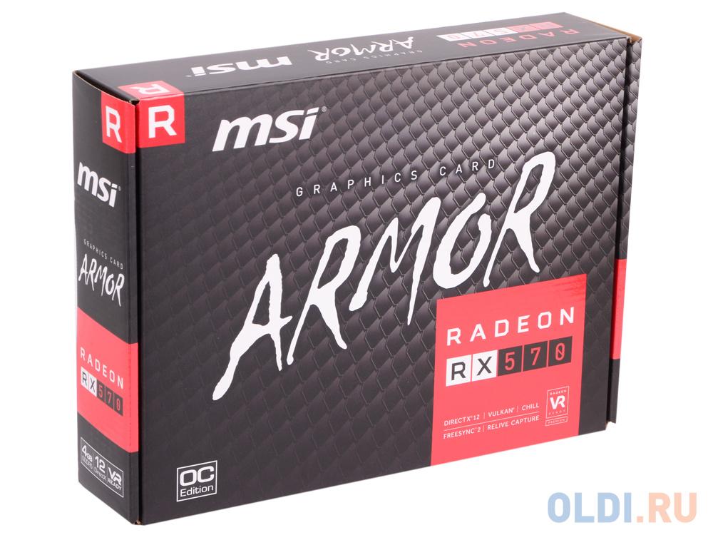 Видеокарта MSI Radeon RX 570 ARMOR 4G OC 4Gb