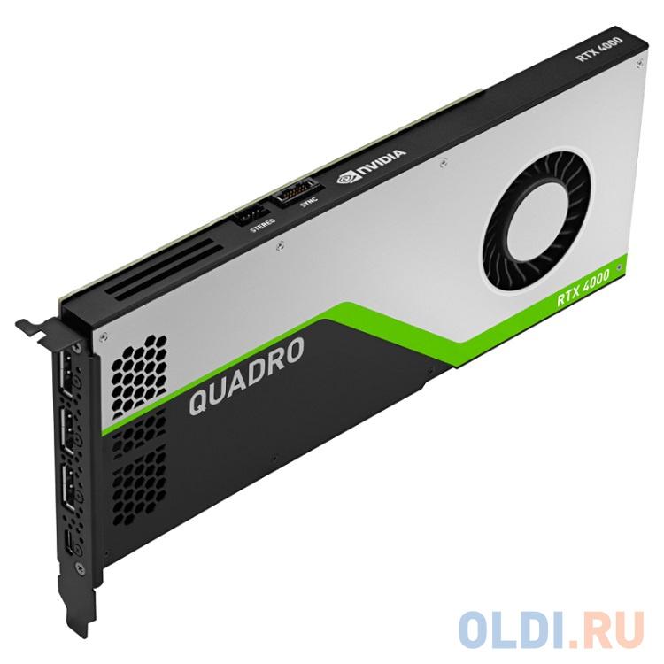 Проф видеокарта 8Gb PCI-E PNY nVidia Quadro RTX 4000 GDDR6, 256 bit, 3*DP, Virtual Link, Retail