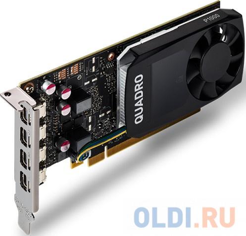 Фото - Видеокарта PNY Quadro P1000 VCQP1000DVIV2-PB PCI-E 4096Mb GDDR5 128 Bit Retail материнская плата asrock z370 pro4 socket 1151 v2 z370 4xddr4 2xpci e 16x 3xpci e 1x 6 atx retail