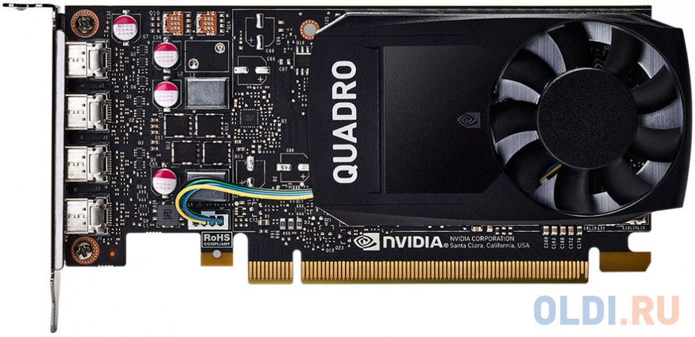 Видеокарта HP Quadro P1000 1ME01AA PCI-E 4096Mb GDDR5 128 Bit Retail