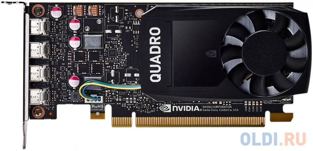 Фото - Видеокарта HP Quadro P1000 1ME01AA PCI-E 4096Mb GDDR5 128 Bit Retail материнская плата asrock z370 pro4 socket 1151 v2 z370 4xddr4 2xpci e 16x 3xpci e 1x 6 atx retail