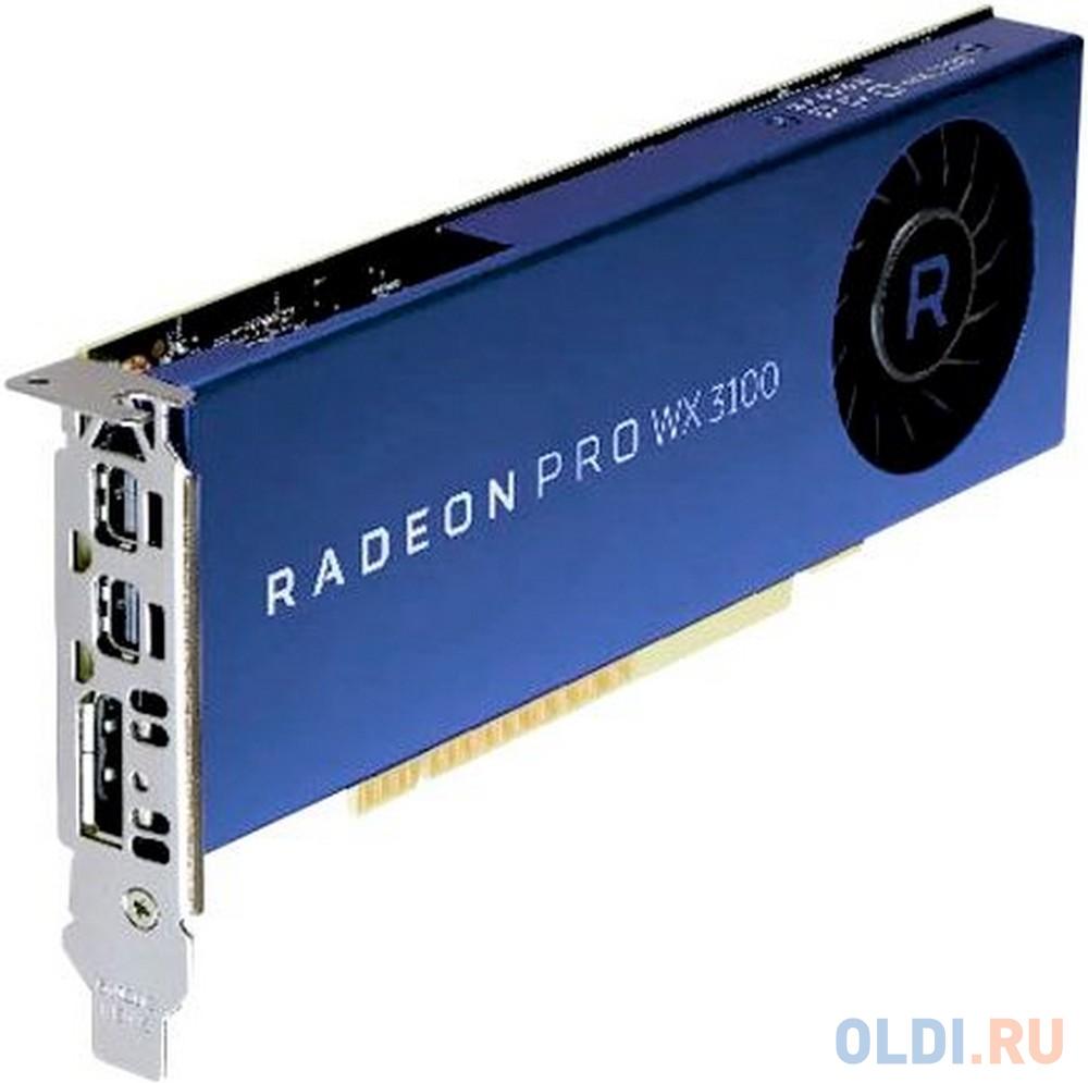 Видеокарта Dell PCI-E Radeon Pro WX 3100 AMD WX 3100 4096Mb 256bit DDR5/DPx2 oem