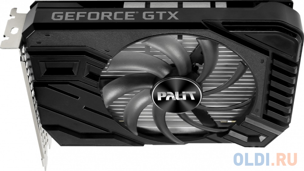Фото - Видеокарта Palit GeForce GTX 1650 D6 StormX PCI-E 4096Mb GDDR6 128 Bit Retail NE61650018G1-166F видеокарта asus geforce gtx 1650 super tuf gaming pci e 4096mb gddr6 128 bit retail tuf gtx1650s 4g gaming