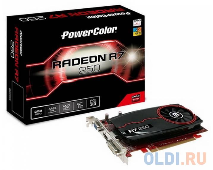 Видеокарта PowerColor Radeon R7 250 AXR7 250 2GBD3-DH PCI-E 2048Mb GDDR3 128 Bit Retail