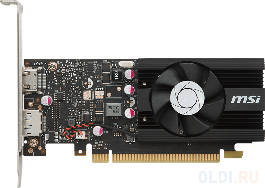 Видеокарта MSI GeForce GT 1030 GT 1030 2G LP OC PCI-E 2048Mb 64 Bit Retail видеокарта gigabyte geforce gt 1030 gv n1030d5 2gl pci e 2048mb 64 bit retail