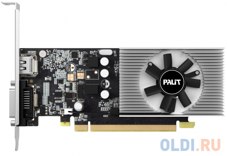 Видеокарта 2048Mb Palit GeForce GT1030 PCI-E DDR5 64bit DVI HDMI OEM видеокарта gigabyte gts450 1g ddr5 gtx560ti gtx650ti gtx660ti