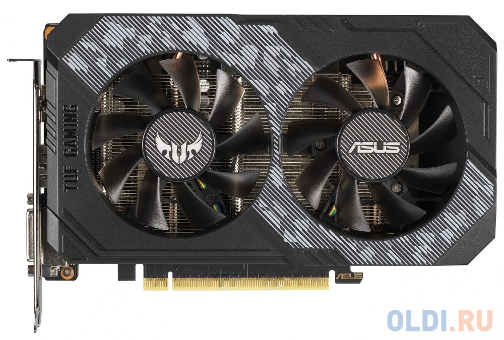 Фото - Видеокарта ASUS nVidia GeForce RTX 2060 TUF Gaming OC PCI-E 6144Mb GDDR6 192 Bit Retail TUF-RTX2060-O6G-GAMING видеокарта asus geforce gtx 1650 super tuf gaming pci e 4096mb gddr6 128 bit retail tuf gtx1650s 4g gaming