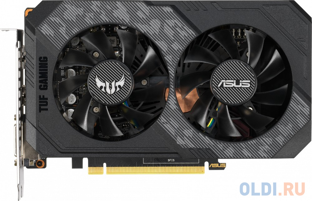 Фото - Видеокарта ASUS GeForce GTX 1660 TUF GAMING PCI-E 6144Mb GDDR5 192 Bit Retail TUF-GTX1660-6G-GAMING видеокарта asus geforce gtx 1650 super tuf gaming pci e 4096mb gddr6 128 bit retail tuf gtx1650s 4g gaming