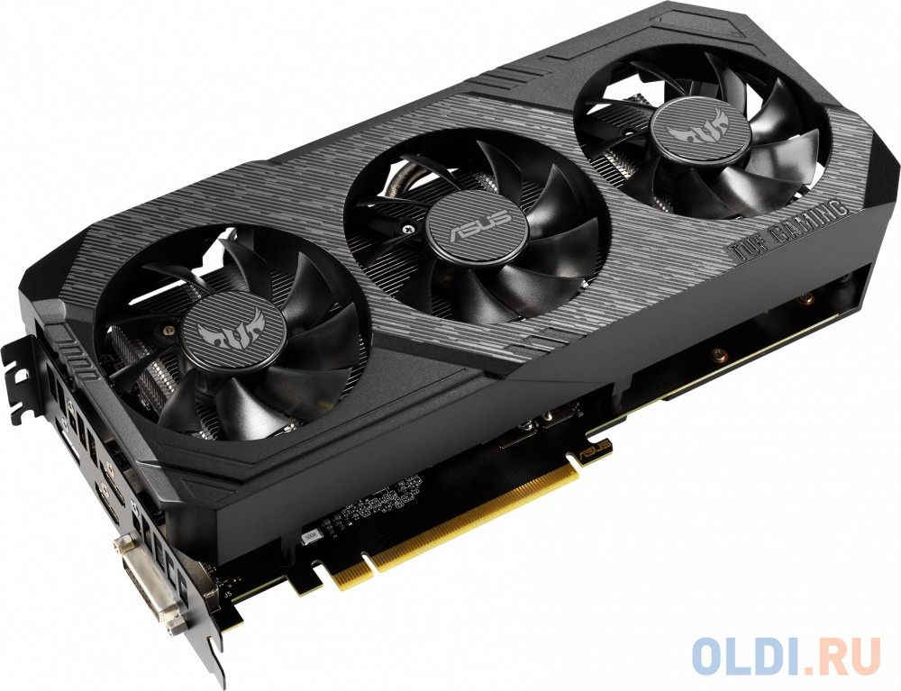 Фото - Видеокарта ASUS GeForce GTX 1660 TUF3-GTX1660-O6G-GAMING PCI-E 6144Mb GDDR5 192 Bit Retail TUF3-GTX1660-O6G-GAMING видеокарта asus geforce gtx 1650 super tuf gaming pci e 4096mb gddr6 128 bit retail tuf gtx1650s 4g gaming
