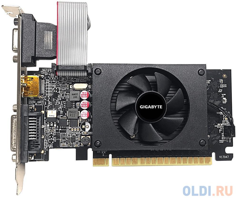 Фото - Видеокарта Gigabyte PCI-E GV-N710D5-2GIL nVidia GeForce GT 710 2048Mb 64bit GDDR5 954/5010 DVIx1/HDMIx1/CRTx1/HDCP Ret low profile видеокарта gigabyte geforce gt 710 2gb gv n710d5 2gil retail