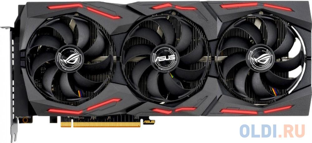 Фото - Видеокарта Asus PCI-E 4.0 ROG-STRIX-RX5700XT-O8G-GAMING AMD Radeon RX 5700XT 8192Mb 256bit GDDR6 1840/14000/HDMIx1/DPx3/HDCP Ret видеокарта gigabyte pci e gv n208sgamingoc wb 8gd nvidia geforce rtx 2080super 8192mb 256bit gddr6 1845 15500 hdmix1 dpx3 hdcp ret