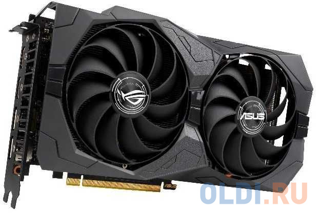 Фото - Видеокарта Asus PCI-E ROG-STRIX-GTX1650S-A4G-GAMING nVidia GeForce GTX 1650SUPER 4096Mb 128bit GDDR6 1530/12002/HDMIx2/DPx2/HDCP Ret видеокарта asus geforce gtx 1650 super tuf gaming pci e 4096mb gddr6 128 bit retail tuf gtx1650s 4g gaming