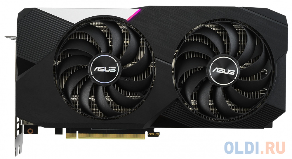 Видеокарта ASUS nVidia GeForce RTX 3060 Ti Dual V2 OC Edition LHR 8192Mb DUAL-RTX3060TI-O8G-V2
