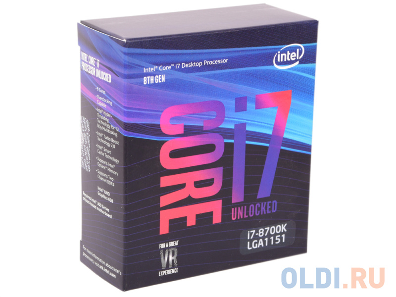Процессор Intel Core i7-8700K BOX
