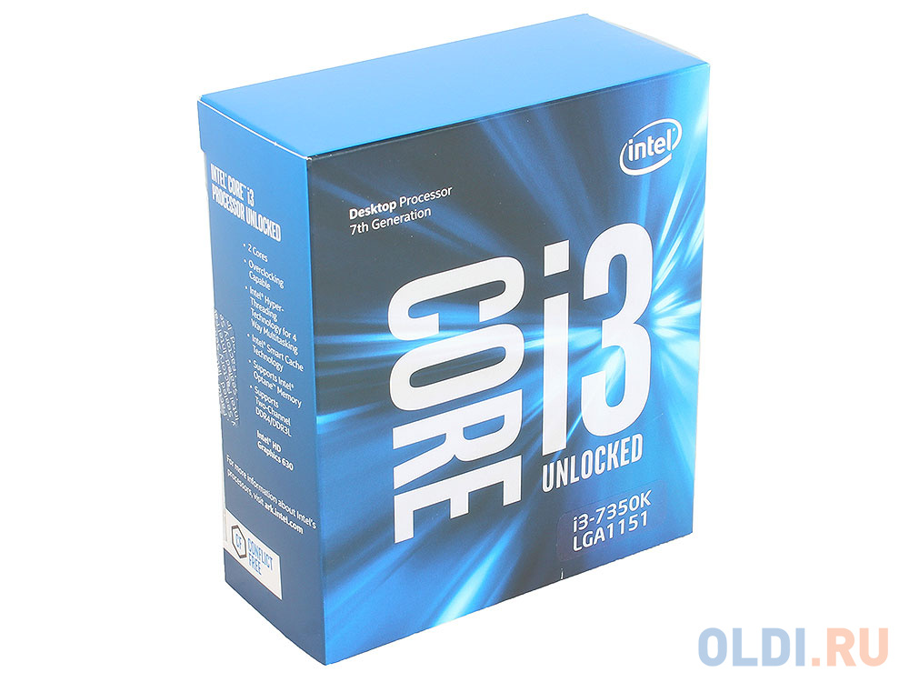 Процессор Intel® Core™ i3-7350K BOX w/o Fan