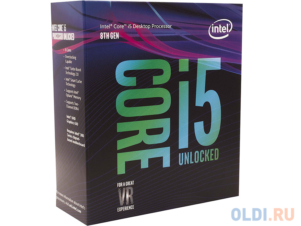 Процессор Intel® Core™ i5-8600K BOX