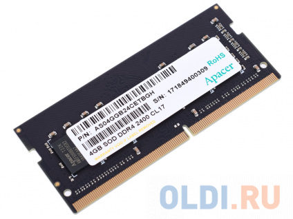 Фото «Память SO-DIMM DDR4 4Gb (pc-19200) 2400MHz Apacer Retail» в Ростове-на-Дону