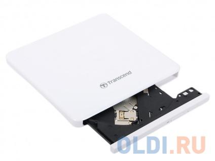 Фото «Внешний привод DVD±RW Transcend TS8XDVDS-W Slim USB2.0 Retail белый» в Ростове-на-Дону