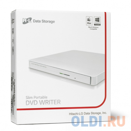 Фото «Оптич. накопитель ext. DVD±RW HLDS (Hitachi-LG Data Storage) GP50NW41 White» в Ростове-на-Дону