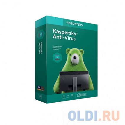 Фото «Программное обеспечение Kaspersky Anti-Virus Russian Edition. 2-Desktop 1 year Base Box (KL1171RBBFS)» в Москве