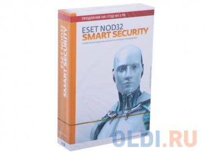 Фото «Коробка продления ESET NOD32 Smart Security - продление лицензии на 1 год на 3ПК (NOD32-ESS-RN(BOX3)-1-1)» в Новосибирске