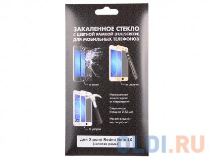 Фото «Закаленное стекло с цветной рамкой (fullscreen) для Xiaomi Redmi Note 4X DF xiColor-10 (gold)» в Санкт-Петербурге