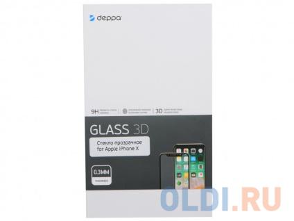 Фото «Защитное стекло 3D Deppa для Apple iPhone X/XS, 0.3 мм, черный» в Санкт-Петербурге
