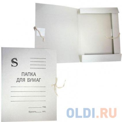 Фото «Папка на завязках, белая, с приклеенными клапанами, в коробе, 0,35 мм(220г/м2)» в Нижнем Новгороде