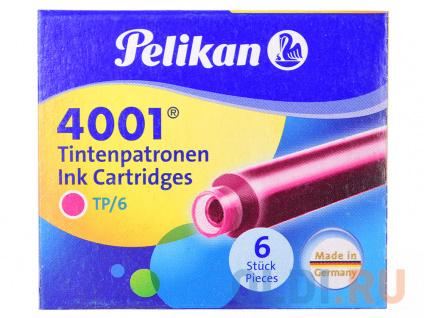 Фото «Картридж Pelikan INK 4001 TP/6 (321075) розовые чернила для ручек перьевых (6шт)» в Новосибирске