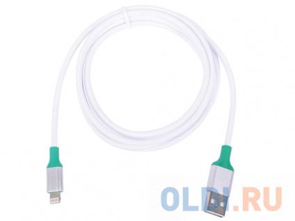 Фото «Greenconnect Кабель 1.5m Apple USB 2.0 AM/Lightning 8pin MFI для Iphone 5/6/7/8/X - поддержка всех I 33-050544 зеленый» в Москве