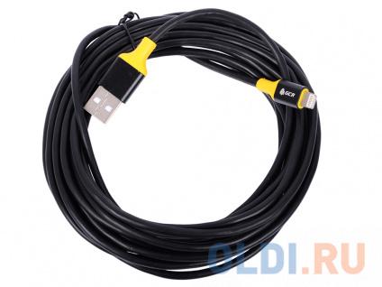 Фото «Greenconnect Кабель 3A 5.0m Apple USB 2.0 AM/Lightning 8pin MFI для Iphone 5/6/7/8/X - поддержка вс» в Москве